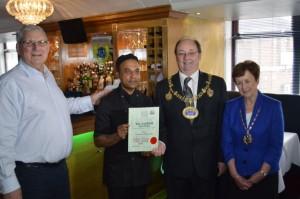 Pat Chapman with Abul Monsur and Mayor and Mayoress of Chapman
