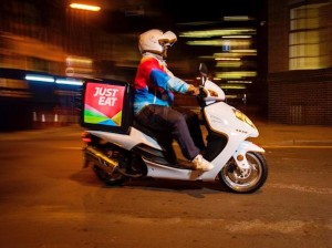 just eat driver & scooter